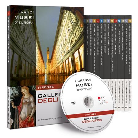 copertina di Galleria degli Uffizi Firenze - I grandi musei d'Europa 1