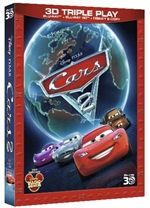 copertina di Cars 2 - Triple Play (Blu-Ray 3D + Blu-Ray Disc + E-Copy)