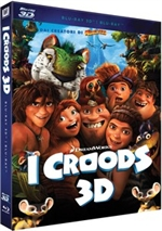 copertina di I Croods 3D - Deluxe Edition (Blu-Ray 3D + Blu-Ray Disc + DVD)