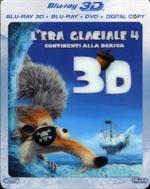copertina di L'era glaciale 4 - Continenti alla deriva 3D (Blu-Ray 3D/2D + DVD + Copia Digitale)