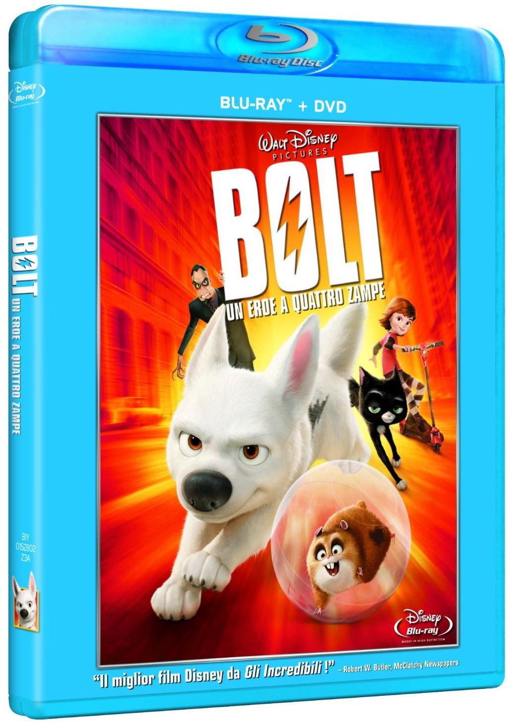 copertina di Bolt - Un eroe a quattro zampe