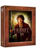 copertina di Hobbit, Lo  - Un viaggio inaspettato 3D - Extended Edition (2 Blu-Ray 3D + 3 Blu-Ray Disc + Copia Dig)