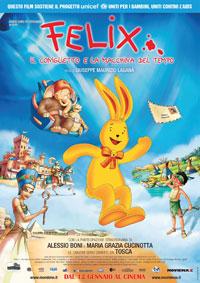 copertina di Felix, il coniglietto e la macchina del tempo
